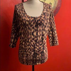 Jones New York cheetah print top Medium